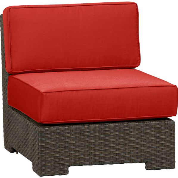 Ventura Modular Armless Chair with Sunbrella® Caliente Cushions