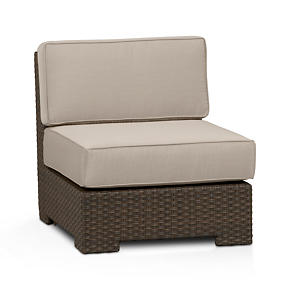 Ventura Modular Armless Chair with Sunbrella Stone Cushions