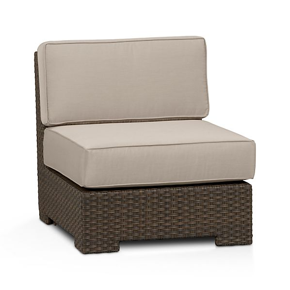 Ventura Modular Armless Chair with Sunbrella ® Stone Cushions
