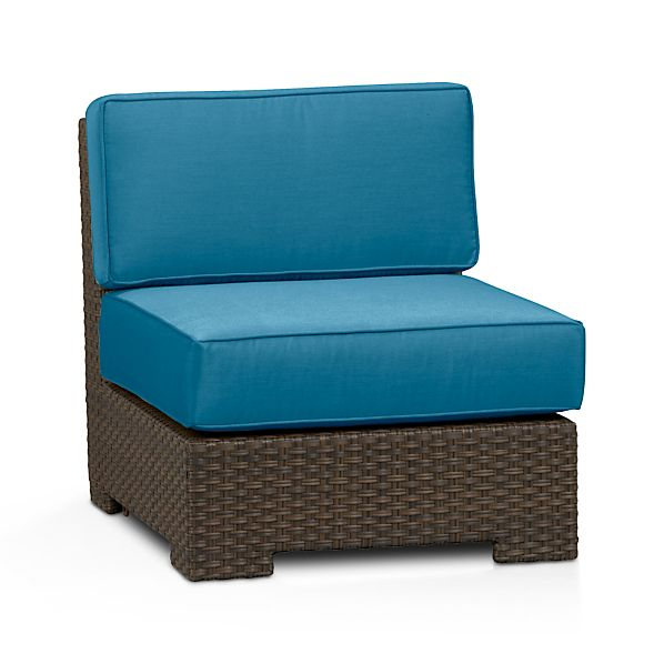 Ventura Modular Armless Chair with Sunbrella ® Turkish Tile Cushions
