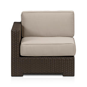 Ventura Modular Left Arm Chair with Sunbrella Stone Cushions