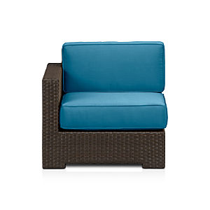 Ventura Modular Left Arm Chair with Sunbrella® Turkish Tile Cushions