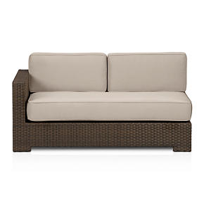 Ventura Modular Left Arm Loveseat with Sunbrella Stone Cushions