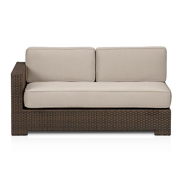 Ventura Modular Left Arm Loveseat and Sunbrella ® Stone Cushions