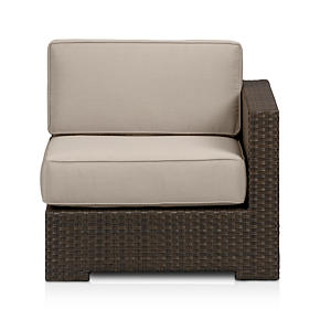 Ventura Modular Right Arm Chair with Sunbrella Stone Cushions