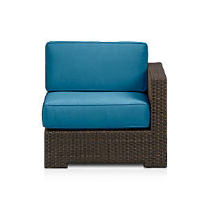 Ventura Modular Right Arm Chair with Sunbrella® Turkish Tile Cushions