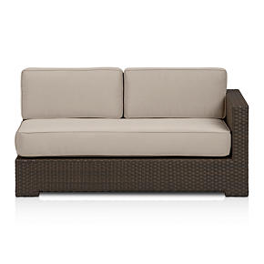 Ventura Modular Right Arm Loveseat with Sunbrella Stone Cushions