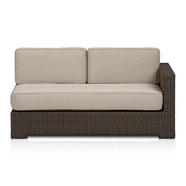Ventura Modular Right Arm Loveseat with Sunbrella ® Stone Cushions