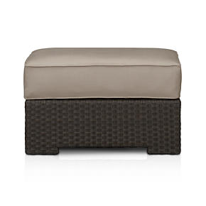 Ventura Ottoman with Sunbrella Stone Cushion