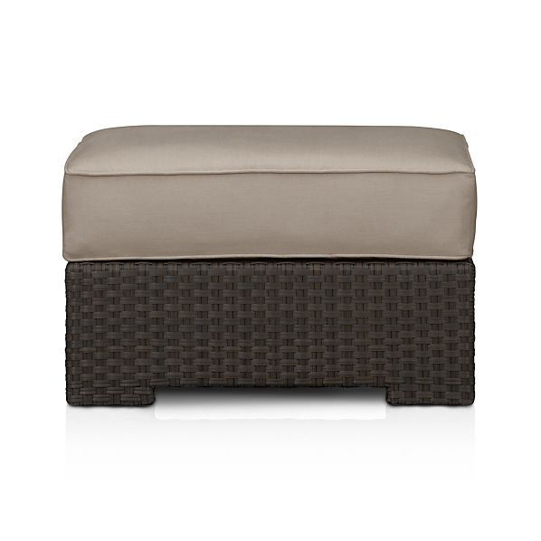 Ventura Ottoman with Sunbrella ® Stone Cushion