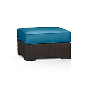 Ventura Ottoman with Sunbrella® Turkish Tile Cushion
