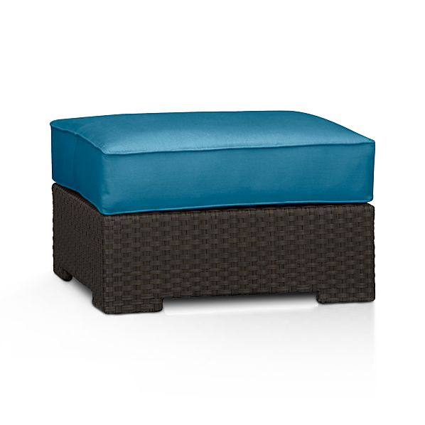 Ventura Ottoman with Sunbrella ® Turkish Tile Cushion