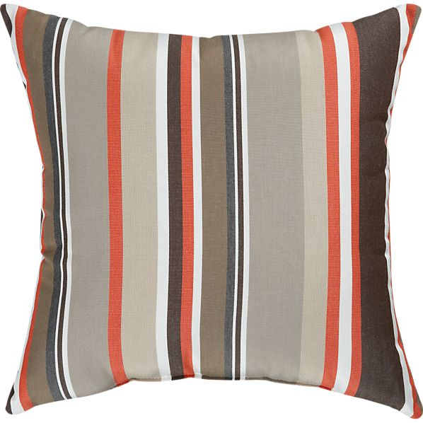 "Sunbrella® Valencia Stripe 20"" Sq. Outdoor Pillow"
