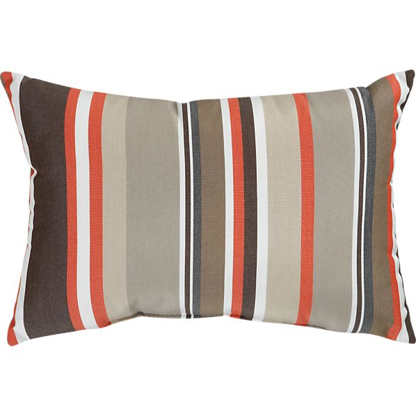 "Sunbrella® Valencia Stripe 20""x13"" Outdoor Pillow"