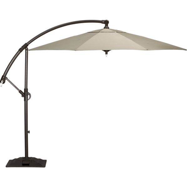 10' Round Sunbrella® Stone Free-Arm Umbrella with Base