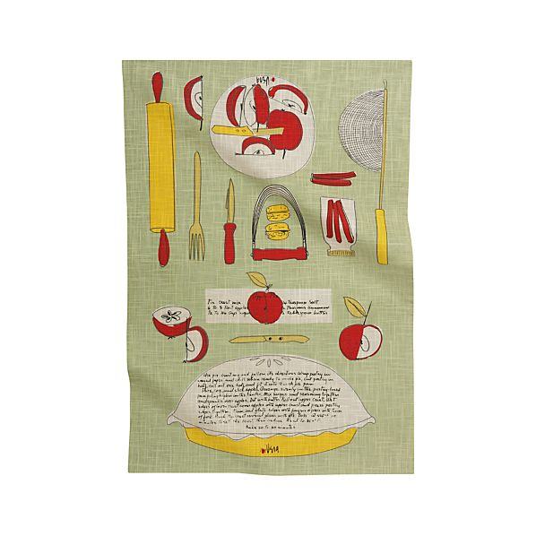 Vera Neumann Apple Pie Recipe Dishtowel