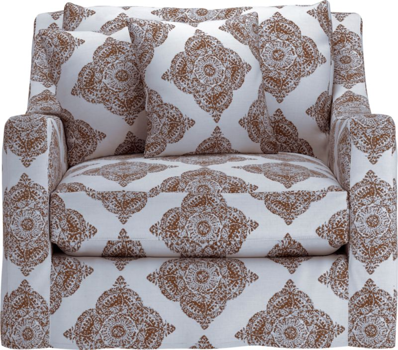 "Curve-hugging slipcover makes the most of Verano's graceful curves and plump cushioning.<br /><br />Additional <a href=""http://crateandbarrel.custhelp.com/cgi-bin/crateandbarrel.cfg/php/enduser/crate_answer.php?popup=-1&p_faqid=125&p_sid=DMUxFvPi"">slipcovers</a> available below and through stores featuring our Furniture Collection.<br /><br /><NEWTAG/>After you place your order, we will send a fabric swatch via next day air for your final approval. We will contact you to verify both your receipt and approval of the fabric swatch before finalizing your order.<br /><ul><li>95% cotton and 5% linen</li><li>Machine wash</li><li>See additional fra"