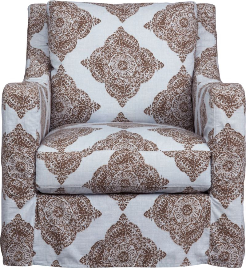 "Curve-hugging slipcover makes the most of Verano's graceful curves and plump cushioning.<br /><br />Additional <a href=""http://crateandbarrel.custhelp.com/cgi-bin/crateandbarrel.cfg/php/enduser/crate_answer.php?popup=-1&p_faqid=125&p_sid=DMUxFvPi"">slipcovers</a> available below and through stores featuring our Furniture Collection.<br /><br /><NEWTAG/>After you place your order, we will send a fabric swatch via next day air for your final approval. We will contact you to verify both your receipt and approval of the fabric swatch before finalizing your order.<br /><ul><li>95% cotton and 5% linen</li><li>Machine wash</li><li>See additional frame options belo"