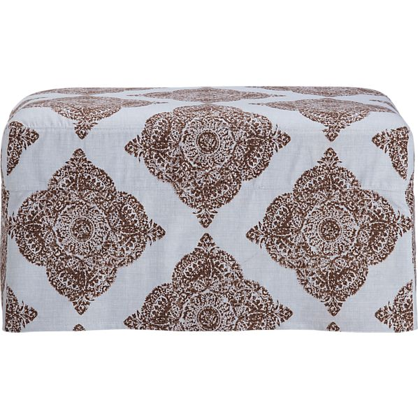 Verano Slipcover Ottoman in Ottomans, Cubes | Crate and Barrel