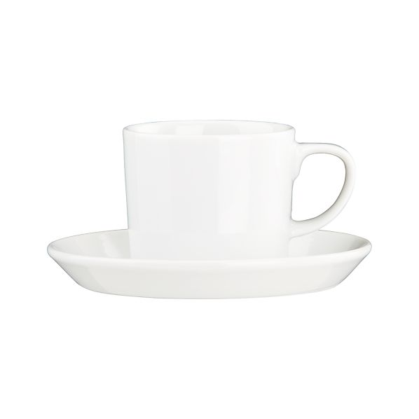 Set of 8 Verge Espresso Cups and Saucers