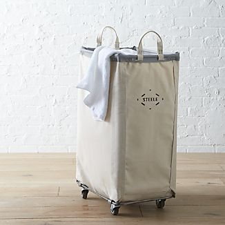 Steele® Vertical Canvas Laundry Bin