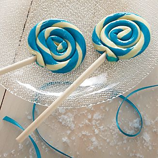 Hammond's Candies Very Berry Blue and White Lollipop