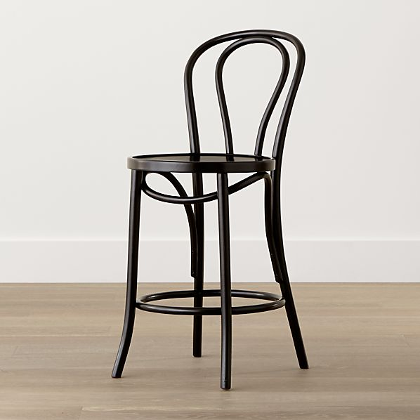 Vienna Black Counter Stool Crate And Barrel