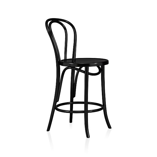 Vienna Black Bar Stool And Cushion Crate And Barrel