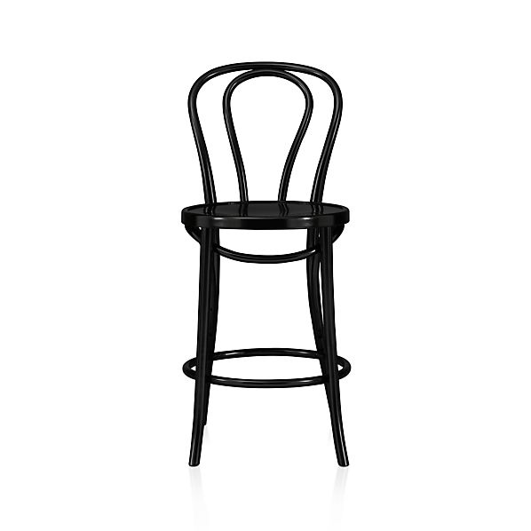"Vienna Black 24"" Bar Stool"