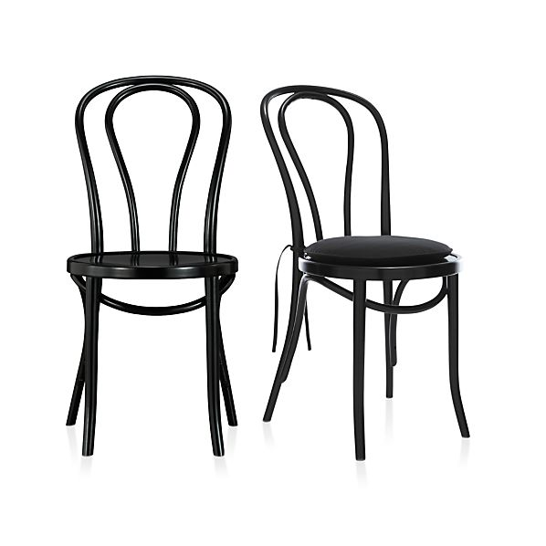 Vienna Black Side Chair and Cushion