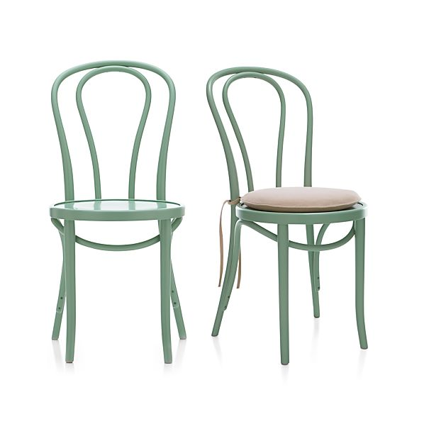 Vienna Mint Side Chair and Cushion