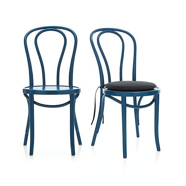 Vienna Peacock Side Chair and Cushion