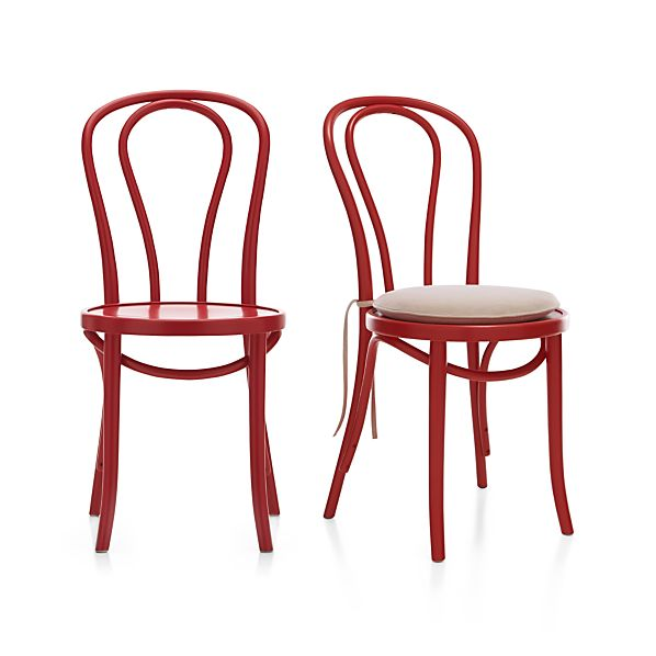 Vienna Red Side Chair and Cushion