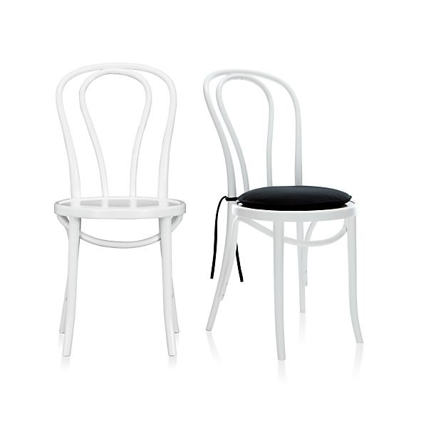 Vienna White Side Chair and Cushion