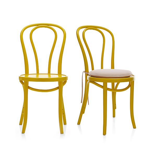 Vienna Yellow Side Chair and Cushion