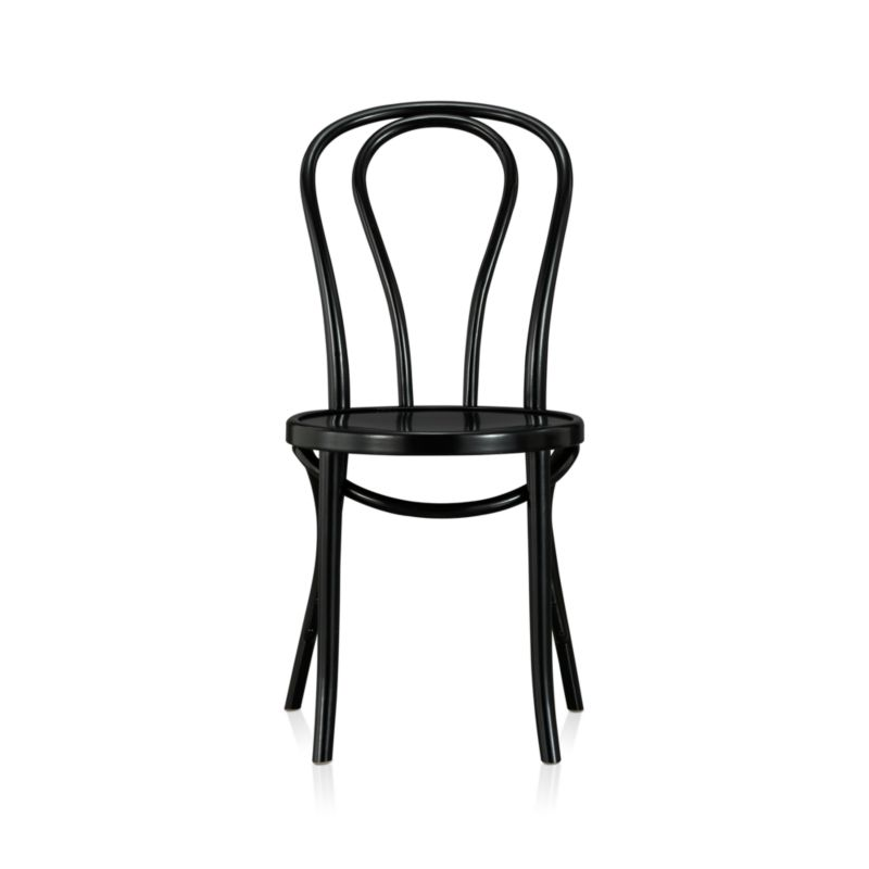 In 1859, Michael Thonet introduced the concept of bending wood with steam to design the iconic bentwood chair. Today, our bent beechwood Vienna chair is produced in one of the original Thonet factories in Europe. <NEWTAG/><ul><li>Bent beechwood frame and seat in black lacquer finish</li><li>Engineered wood seat</li><li>Made in Poland</li></ul><br /><br />