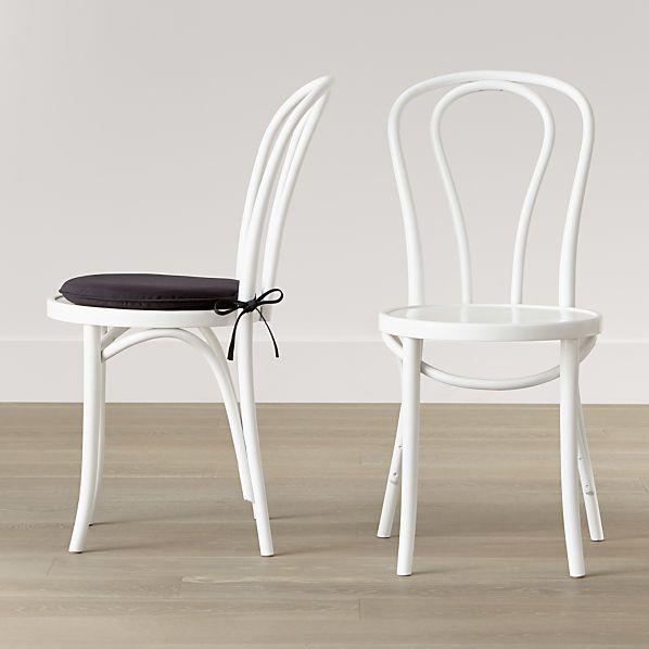 Vienna White Side Chair and Cushion