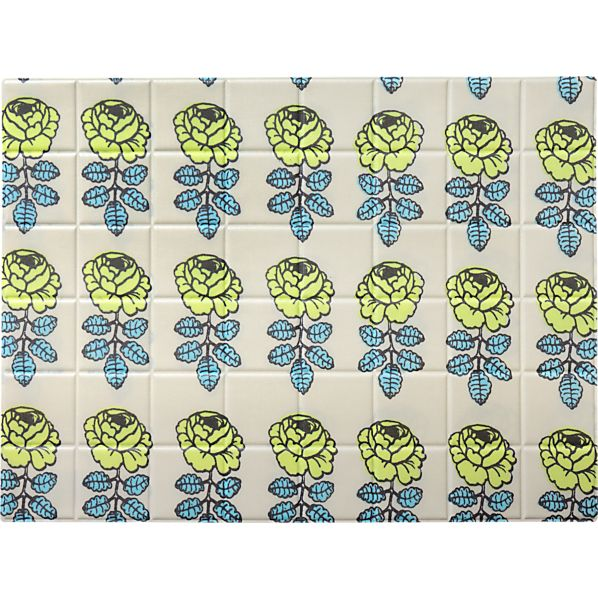 Marimekko Vihkiruusu Green and Blue Placemat