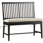 "Black Armless Bench. 18""H seat;"