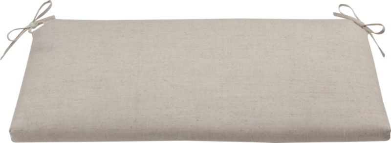 Tie on extra comfort with our cotton-linen cushion in a neutral go-with-everything hue.<br /><br /><NEWTAG/><ul><li>51% cotton, 49% linen</li><li>100% polyester foam and fill</li><li>Tie back</li><li>Machine wash the removable cover</li><li>Made in India</li></ul>