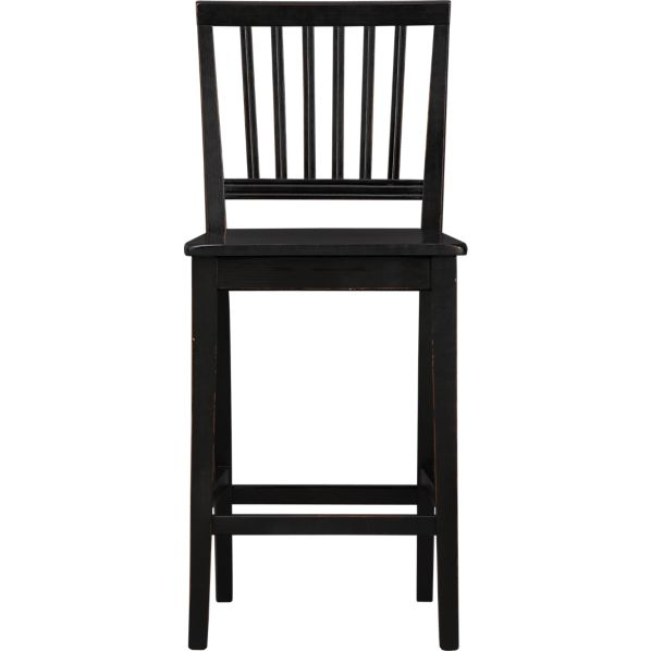 "Village Black 24"" Counter Stool"