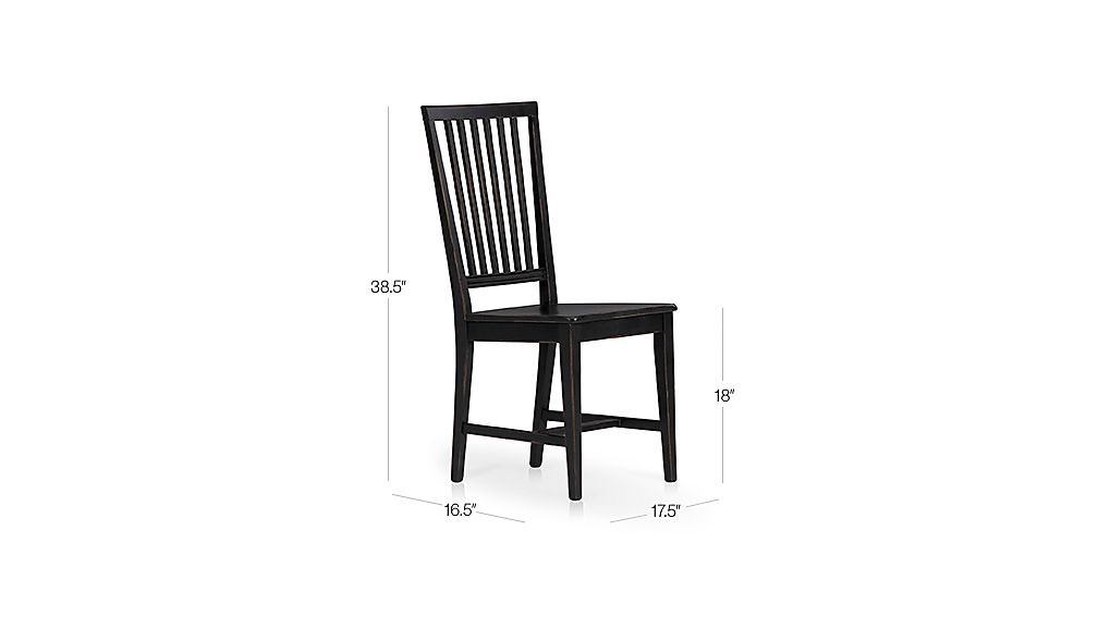 Village Black Dining Chair Dimensions