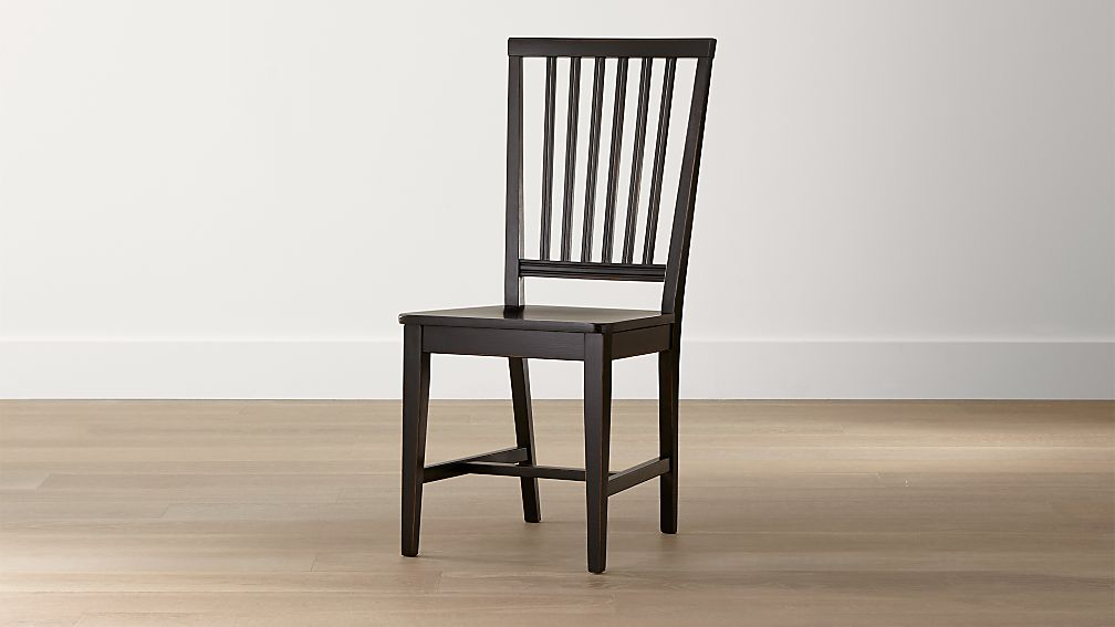 Village Black Wood Dining Chair