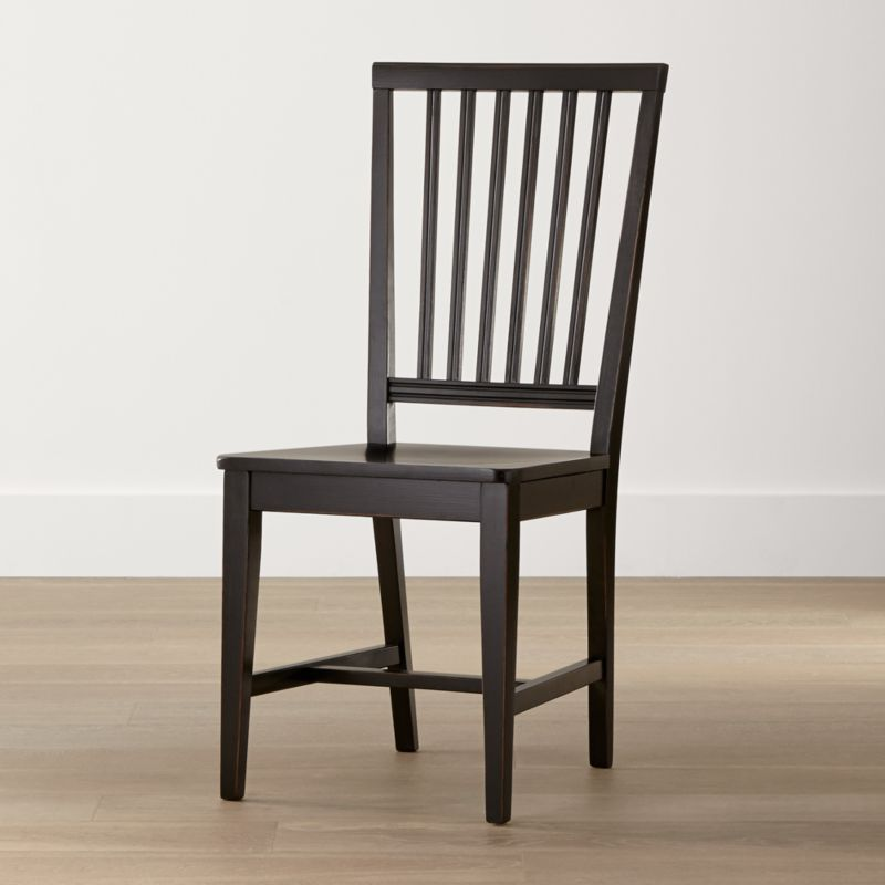One of our most popular and versatile chairs, Village is handcrafted by Italian artisans with a sturdy, solid beechwood frame, generous molded seat of engineered wood with veneer, and vertical slat back. <NEWTAG/><ul><li>Solid beechwood, beech veneer and plywood frame with black finish</li><li>Made in Italy</li></ul>