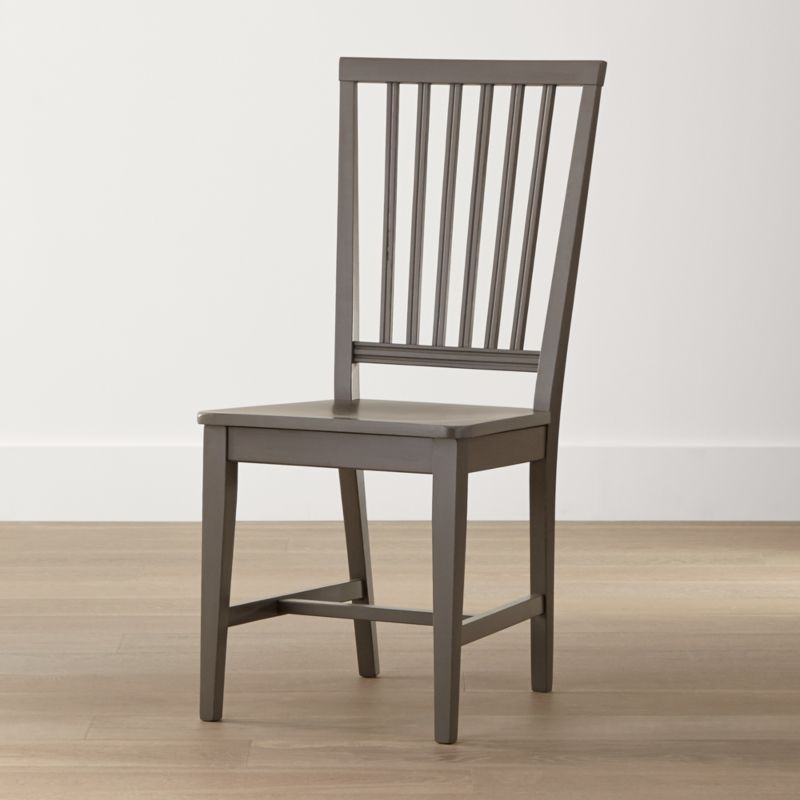 One of our most popular and versatile chairs, Village is handcrafted by Italian artisans with a sturdy, solid beechwood frame, generous molded seat and vertical slat back. <NEWTAG/><ul><li>Solid beechwood, beech veneer and plywood frame with grey finish</li><li>Engineered wood seat with beech veneer with gray finish</li><li>Made in Italy</li></ul><br /><br />