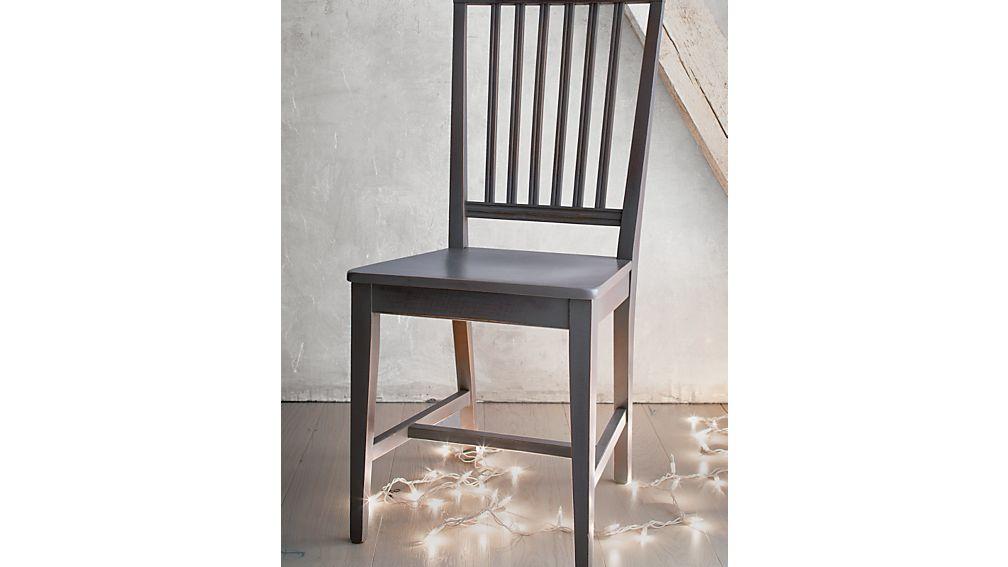 Village Grigio Wood Dining Chair