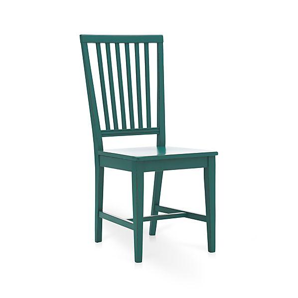 Village Teal Side Chair