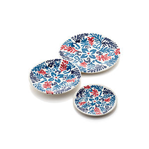 Vinca Blue Melamine Plates