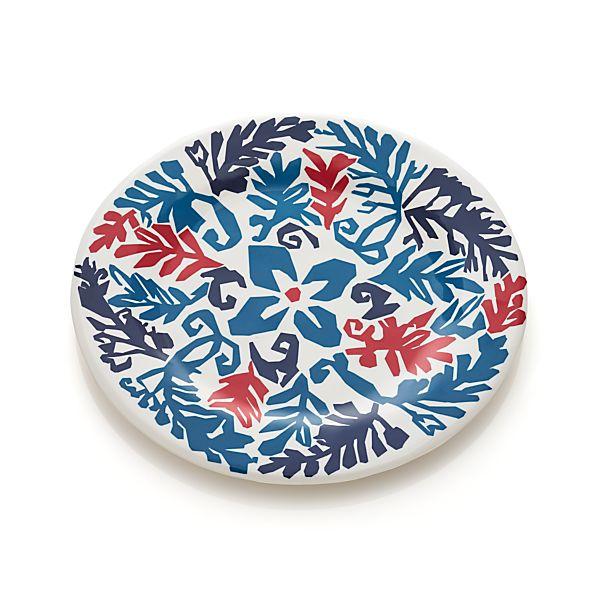 "Vinca Blue 10.5"" Melamine Plate"