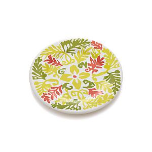 "Vinca Yellow 10.5"" Melamine Plate"